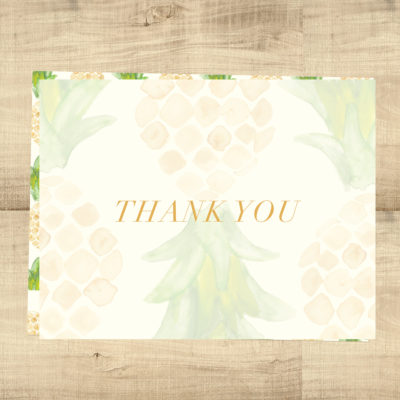 Pineapple Tropical Blank Inside Thank You Cards - Pixie