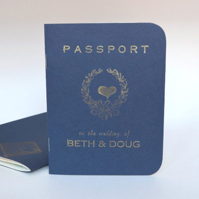Passport Wedding Invitation - Cover