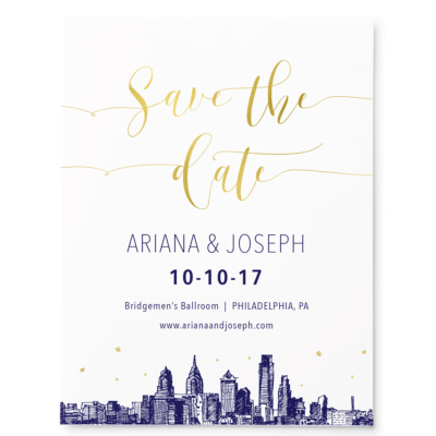 Gold Sky Skyline Save the Date