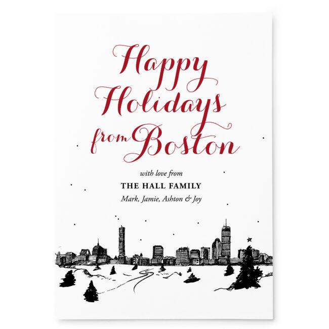 Snowy Skyline Holiday Card | Pixie Paper Co.
