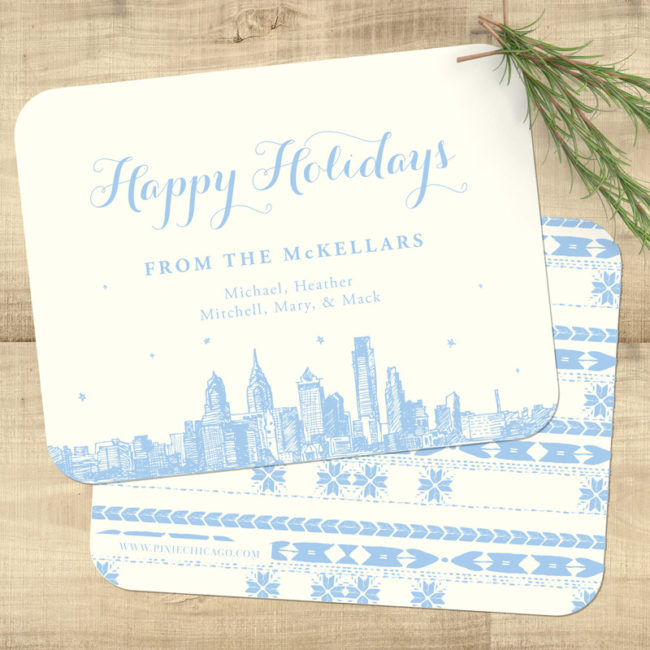 Cozy Pattern Holiday Card