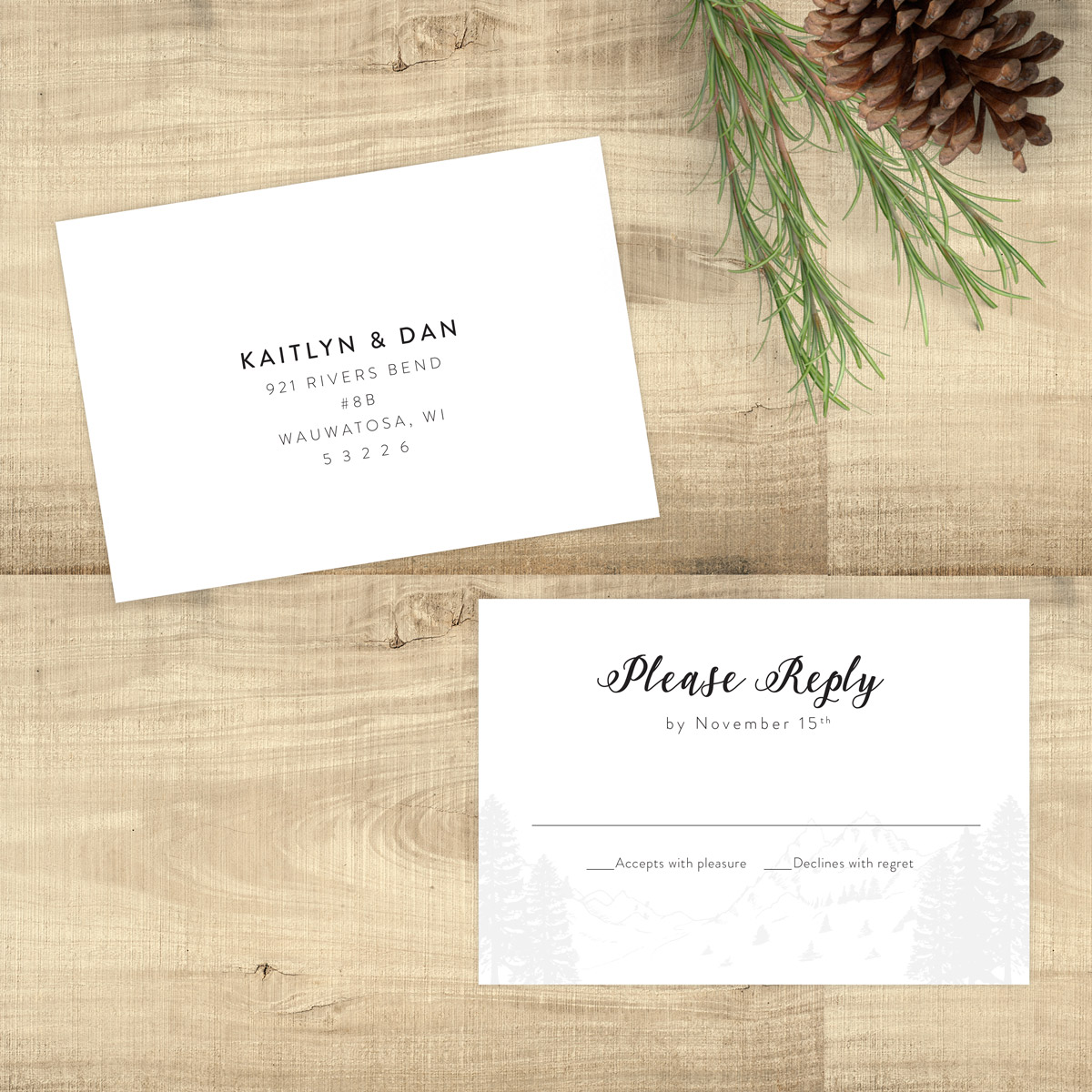 The Mountains Are Calling Rsvp Card