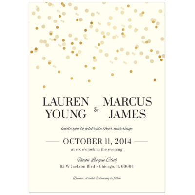 Gold Confetti Wedding Invitation Suite - Pixie