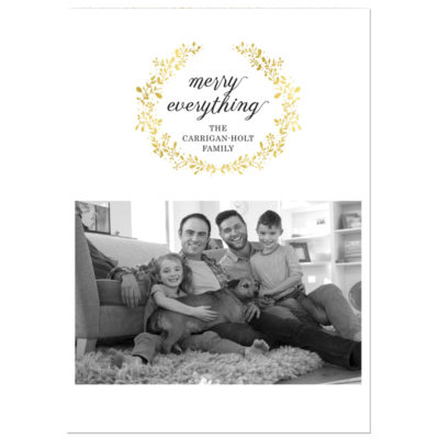 Merry Everything Wreath Photo Holiday Card - Pixie
