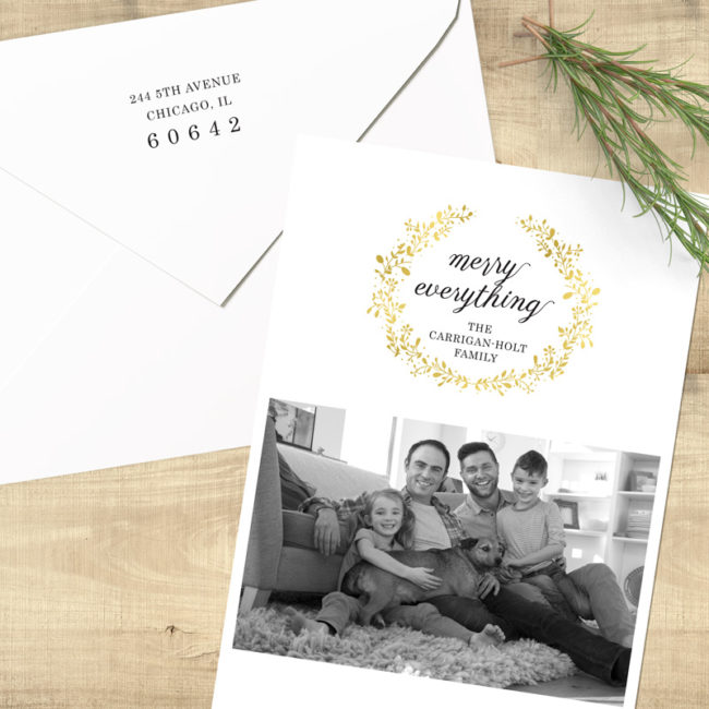Merry Everything Wreath - Return Address Printing