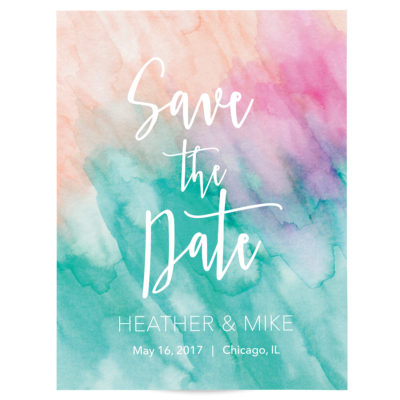 Watercolor Beach Save the Date