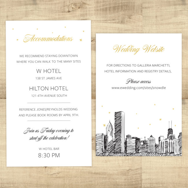 Reception Card and Large Enclosure Card