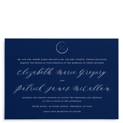 Navy Grace Wedding Suite