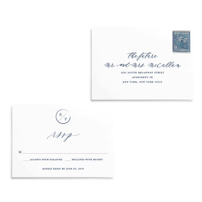 RSVP cards | Navy Grace