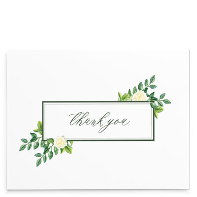 Watercolor Summer Thank You Cards