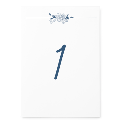 Linear Floral Table Numbers