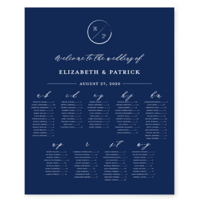 Navy Grace Seating Chart
