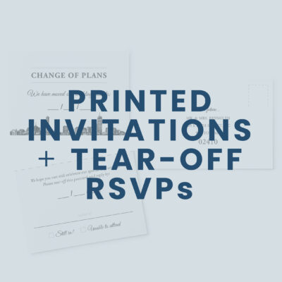 Printed Invitations w/ Tear-off RSVPs