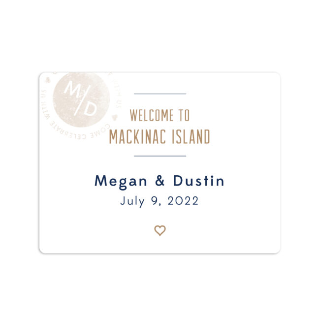 Boarding Pass to Wed Welcome Sticker 4x3""