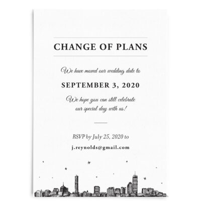 Change of Plans Printed Invitations
