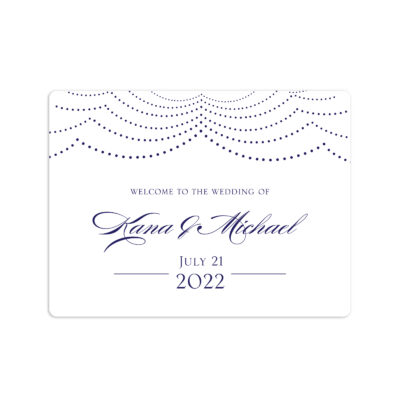 Happily Ever After Wedding Welcome Sticker 4x3""