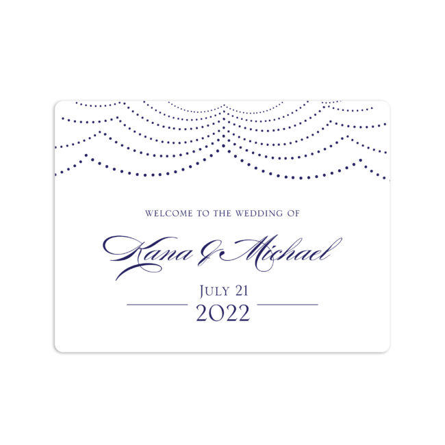"""Happily Ever After Wedding Welcome Sticker 4x3"""""""