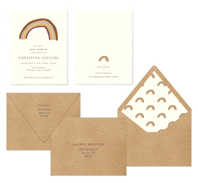 Address Printing and Envelope Liners