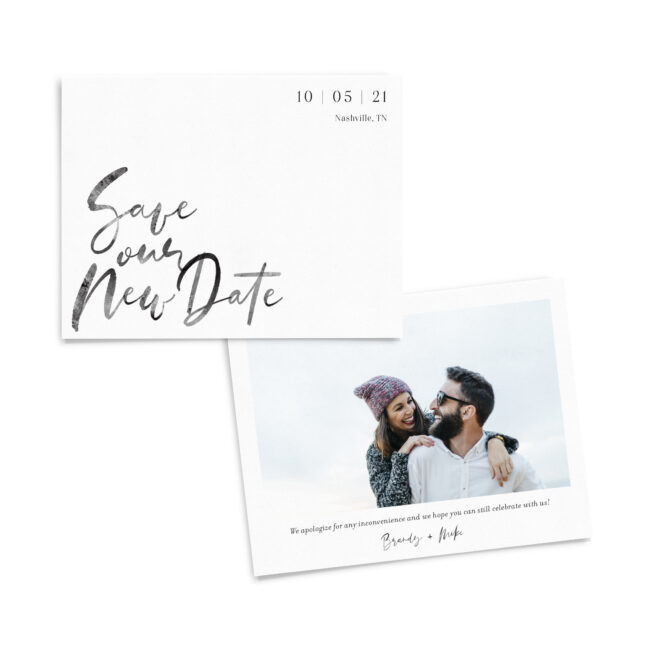Save Our New Date - Modern Watercolor