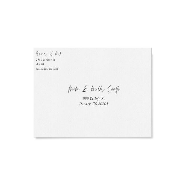 Save Our New Date - Modern Watercolor Address Printing